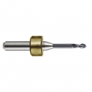 Solid carbide milling cutter Ø 1.0 mm, shaft 6.0 mm, usable length 9 mm, total length 45 mm with MT nitride coating